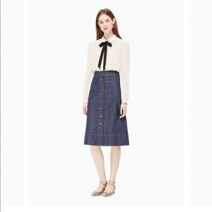 Kate Spade A-line denim skirt